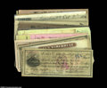 Miscellaneous:Checks, Assorted Nineteenth and Early Twentieth Century Checks. A ...