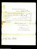 Miscellaneous:Other, 1828 Treasury Draft. A draft dated Oct. 6, 1828 on the ...