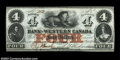 Canadian Currency: , Clifton, C.W.- Bank of Western Canada $4 Sept. 20, 1859 Ch....