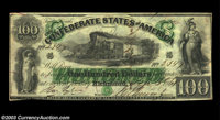 "T5 $100 1861. A fantastic ""First Richmond"" note that is completely free of any folds, the only minor distracti..."