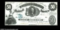 Confederate Notes:1861 Issues, T8 $50 1861. This Choice Crisp Uncirculated example ...
