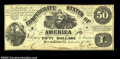 Confederate Notes:1861 Issues, T14 $50 1861. Yet another example of a typically common ...
