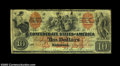 T22 $10 1861. This scarcer type, printed by the Southern Bank Note Company in New Orleans (actually a nomme de guerre of...