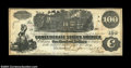Confederate Notes:1862 Issues, T39 $100 1862. Straight Steam. Trio of interest stamps on ...