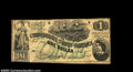 Confederate Notes:1862 Issues, T45 $1 1862. A nice circulated Fine-Very Fine example ...