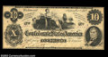 Confederate Notes:1862 Issues, t46 $10 1862. This issue was erroneously dated 1862, ...