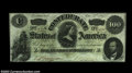 Confederate Notes:1862 Issues, T49 $100 1862. A couple of well-hidden vertical folds are ...