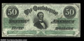 Confederate Notes:1862 Issues, T50 $50 1862. There are a couple of natural paper wrinkles ...
