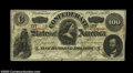 Confederate Notes:1863 Issues, T56 $100 1863. Several light vertical folds are present, ...