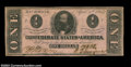 Confederate Notes:1863 Issues, T62 $1 1863. A nice example of the $1 Clay. Crisp ...