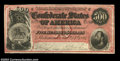 "Confederate Notes:1864 Issues, T64 $500 1864. General T. J. ""Stonewall"" Jackson, who is ..."