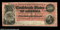 """T64 $500 1864. General T. J. """"Stonewall"""" Jackson, who is pictured on this note, is prominently featured in the..."""