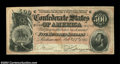 Confederate Notes:1864 Issues, T64 $500 1864. An attractive, nicely centered Stonewall ...