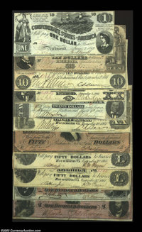 Nice Starter Collection of Confederates. Included are two T14s (XF and VF, CC), T18 (VF-XF), T20 (VF+), T28 (Fine-VF), T...