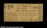 Lebanon, AL- W. Dean $3 Oct. 1, 1862 Rosene UNL There is some similarity here to Rosene 160-1 (which is the only known n...