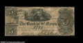 Obsoletes By State:Georgia, St. Mary's, GA- The Bank of St. Mary's $5 Nov. 1, 1843 G2