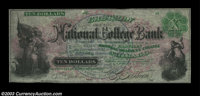 Chicago, IL- Eastman National College Bank $10, $100 Schingoethe IL-600-adv, IL610-adv Two college advertising notes, th...