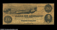 Ashland, KY - Bank of Ashland $20 Jan. 27, 1857 UNL This unlisted counterfeit is payable at the main parent branch at As...