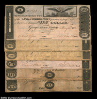 Georgetown, KY - Bank of Georgetown $1 May 4, 1818 G12 AU; $2 May 4, 1818 G14 Fine-VF; $3 July 4, 1818 G16 Fine; $5 May...