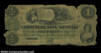 Harrodsburg, KY- Commercial Bank of Kentucky $1 G46a Hughes 668 A very scarce note listed in Haxby as a Proof only, and...