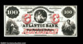 Obsoletes By State:Massachusetts, Boston, MA- The Atlantic Bank $100 G92a Proof