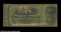 Obsoletes By State:Massachusetts, Boston, MA- The Bank of the Metropolis $10 May 1, 1862 ...