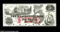 Obsoletes By State:Massachusetts, Boston, MA- The Blackstone Bank $5 G14a Proof