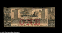 Boston, MA- The Boston Bank $2 June 1, 1860 G28b A later issue from this long lived bank, and quite scarce, as are all o...
