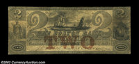 Boston, MA- The Boston Bank $2 June 1, 1853 G44a A very scarce note listed as SENC in Haxby. Fine
