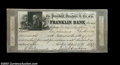 Obsoletes By State:Massachusetts, Boston, MA- Franklin Bank $1000 April 17, 1837