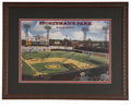 Autographs:Photos, St. Louis Cardinals Multi-Signed Sportsman's Park Lithograph.Beautiful artist rendition of old Sportsman's Park, signed by...