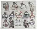 Autographs:Post Cards, New York Yankees Team of the Century Multi-Signed Photograph.Brilliant photo composition gathers images of the New York Ya...