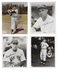 Autographs:Photos, New York Yankee Greats Signed Photographs Lot of 4. Four of thegreat participants in the long and storied tradition of the...