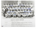 Autographs:Photos, 1958 Los Angeles Dodgers Team Signed Photograph. The Bums' firstyear on the west coast is hearkened back to here with the ...