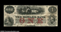Obsoletes By State:Massachusetts, Boston, MA- The Howard Bank $1 Nov. 1, 1860 G2a