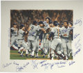 Baseball Collectibles:Others, 1978 New York Yankees Word Champion Signed Lithograph. In 1978 theNew York Yankees completed a tremendous back-to-back run...