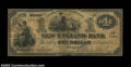 Obsoletes By State:Massachusetts, Boston, MA- New England Bank $1 Jan. 1, 1864 G36a