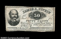 Obsoletes By State:New Hampshire, Colebrook, NH - James A. Pitkin 50¢ Jan. 1, 1863 UNL