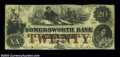 Obsoletes By State:New Hampshire, Somersworth, NH - Somersworth Bank $20 Nov. 1, 1864 G12a