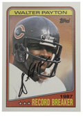 Football Collectibles:Others, 1988 Topps Walter Payton #5 Card Signed in Black Ink. Yet another fine signature from the great Hall of Fame running back Wa...