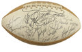 Football Collectibles:Balls, 1972 Pro Bowl AFC and NFC Team Signed Football. In 1972 the second playing of the Pro Bowl in its current AFC vs. NFC forma...