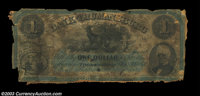 Trumansburg, NY- Bank of Trumansburg $1 Nov. 2, 1863 G2a A very rare note but deplorable in condition, being mounted on...