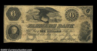 Elizabeth City, NC - Farmers Bank of North Carolina $6 July 1, 1855 C8 Although a counterfeit of the rarer genuine note...