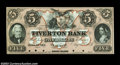 Obsoletes By State:Rhode Island, Fall River, RI- Tiverton Bank $5 Aug. 1, 1857 G18a Proof