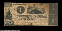 Austin, TX - Republic of Texas $1 May 1, 1841 Cr. A1, Medlar 21 Nice Fine-Very Fine, CC, and with an interesting gutter...
