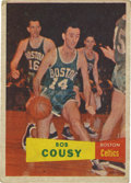 Basketball Cards:Singles (Pre-1970), 1957 Topps Basketball Bob Cousy #17. First card for the Hall ofFame member of the Boston Celtics. Cousy amazed the faithfu...