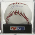 Autographs:Baseballs, Yogi Berra Single Signed Baseball, PSA Gem Mint 10. Yankeeslegendary backstop offers a prefect single here. Ball has been e...