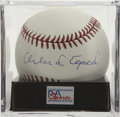 Autographs:Baseballs, Orlando Cepeda Single Signed Baseball, PSA Mint+ 9.5. The Babe Ruthof Puerto Rico provides a top-notch single here. Ball ha...