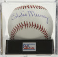 Autographs:Baseballs, Eddie Murray Single Signed Baseball, PSA Mint 9. 500 Home Run Clubhitter Eddie Murray pounded more than 340 long balls for ...