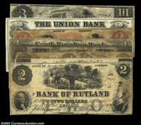 A Trip Through Vermont Rutland, VT - Bank of Rutland $1 May 1, 1862 S5 Coulter 9 Fine; $5 May 23, 1825 C28 Coulter 15* F...